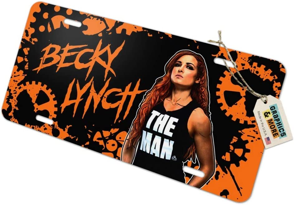 Graphics and More WWE Becky Lynch Splatter Background Novelty Metal Vanity Tag License Plate