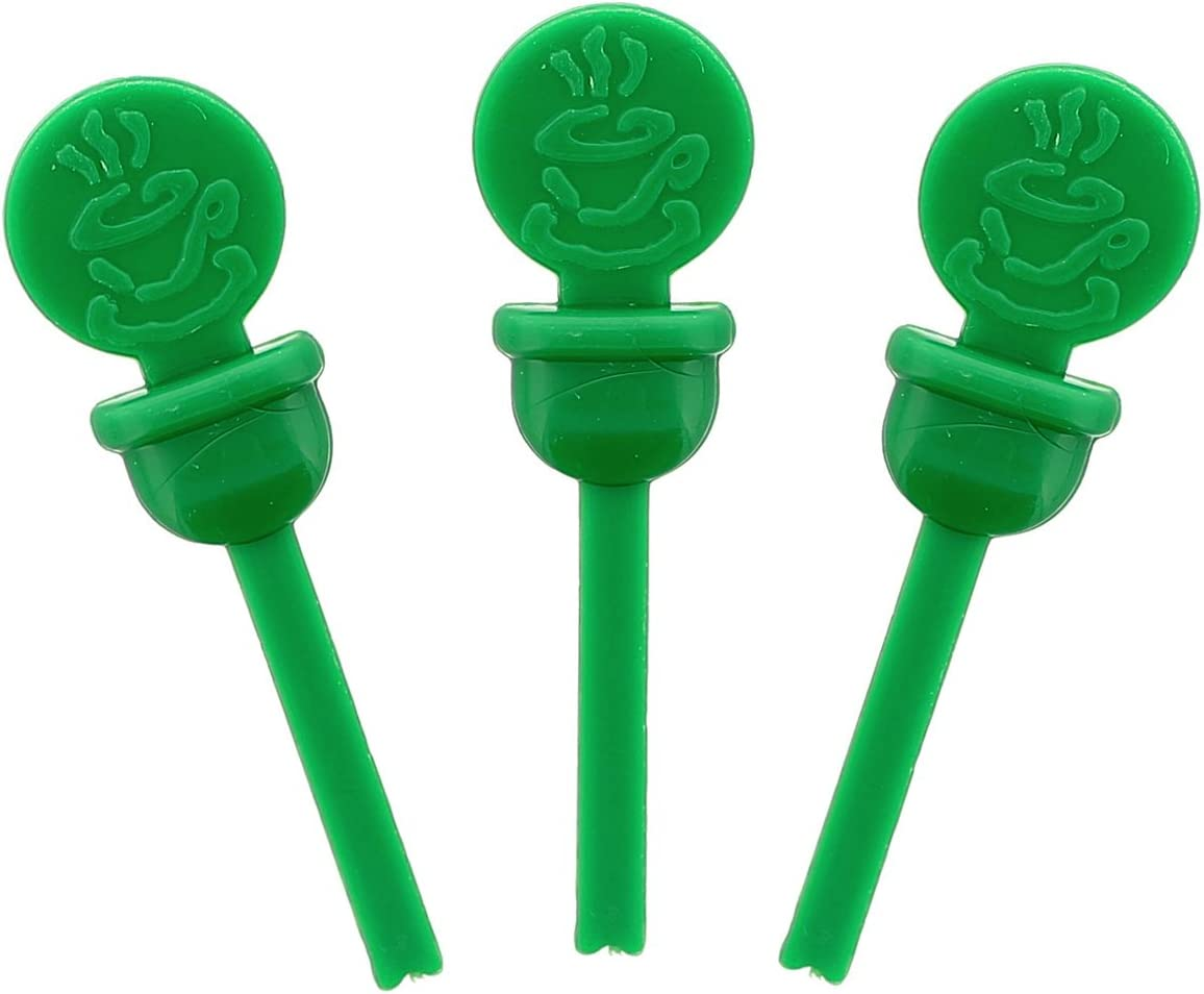 StixToGo Green Circle Beverage Plug for Disposable Lids, Case of 2000