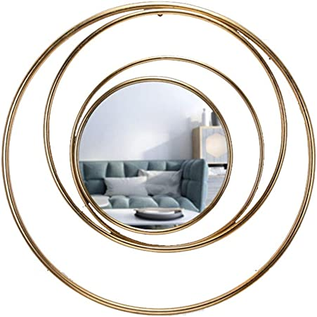 Qinqiwd Metal Wall Art Wall Mirror Abstract Planet Shape Mirror Wall Hanging Home Decorative Mirror 31 4 Inches Gold Amazon Co Uk Kitchen Home