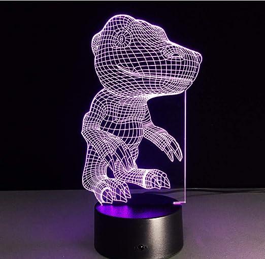 Creativo Luz nocturna visual Figura de acción de Digimon Agumon 3D ...