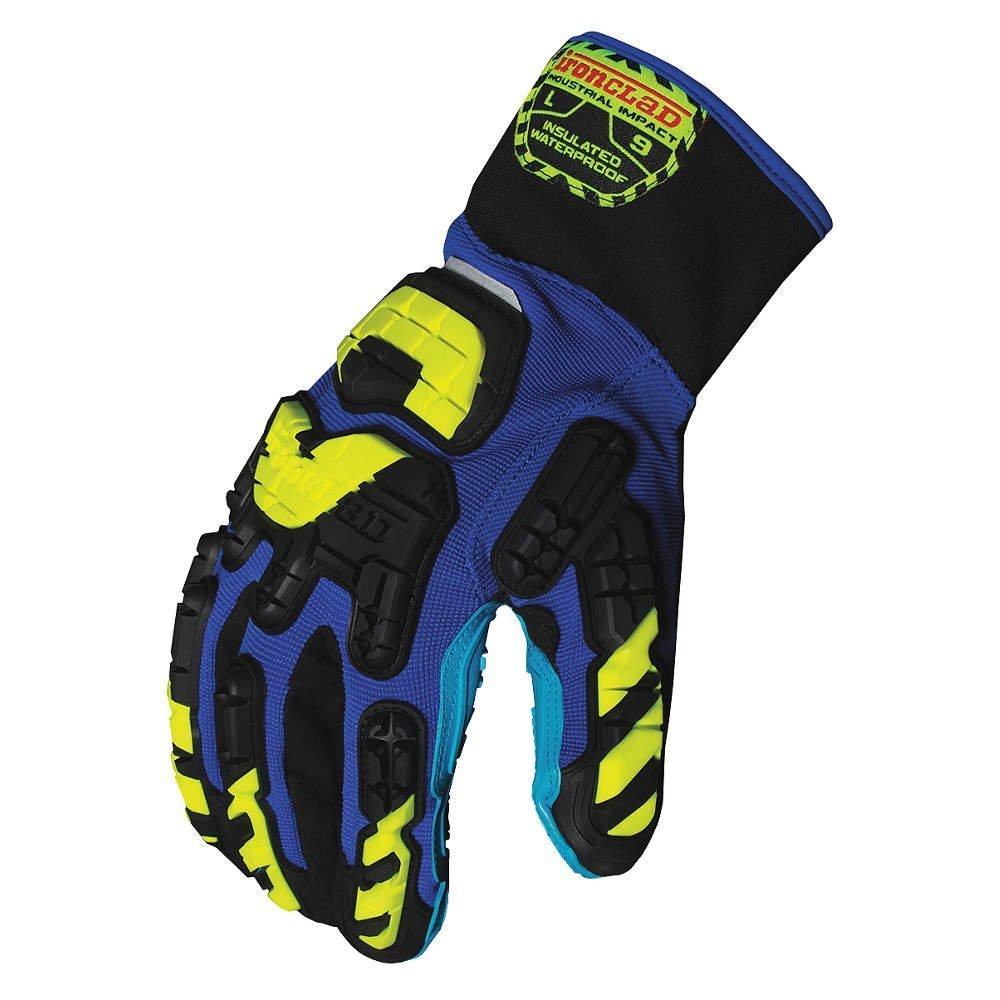 Anti-Vibration Gloves, L, Blue/Blk/Yllw, PR