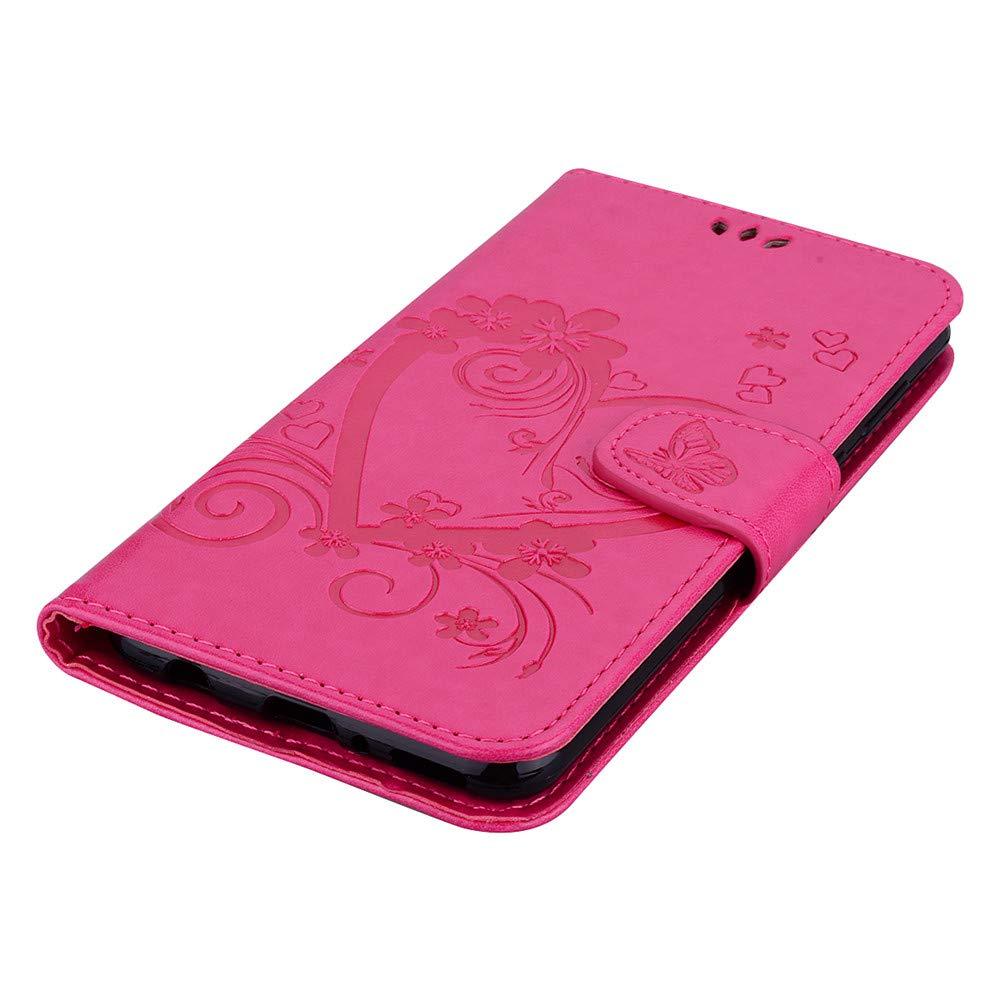 XYX Love Heart PU Leather Wallet Case for K10 2017//LG LV5//LG K20 Plus//LG K20 V