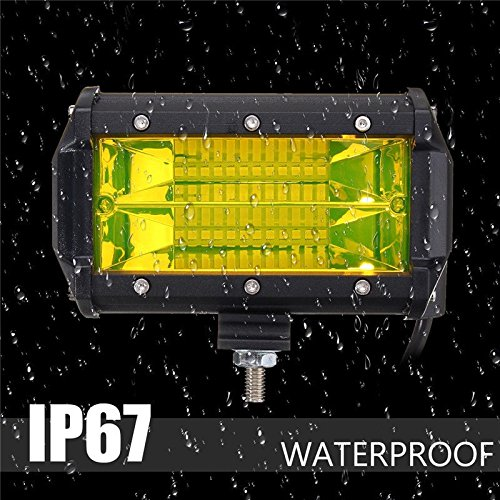 TOOGOO 2PCS Waterproof 5inch 72W LED Work Light for Driving Fog Lamp Offroad Truck SUV by Toogoo (Image #2)