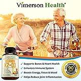 Vitamin K2 (MK7) and D3 Supplement. Strong Bones