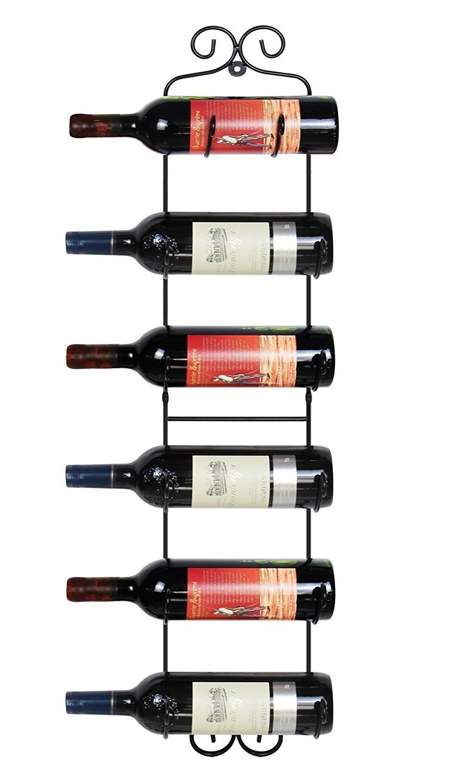 ESYLIFE Wall Mounted Wine Towel Rack, 6 Bottles, Upgrade Style by ESYLIFE (Image #1)
