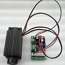 12V Fat Beam 532nm 80mW Green Diode Laser Dot Module 33x33x78mm w/Driver out & TTL 0-20KHz