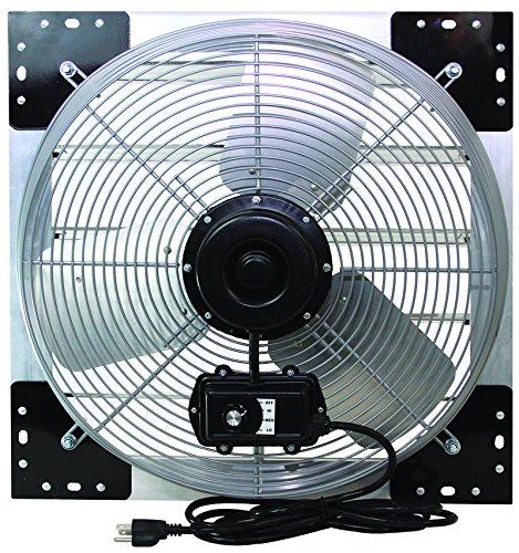 VES 24 Exhaust Shutter Fan, Wall Mount, 3 Speed