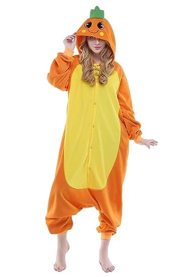Newcosplay Halloween Fleece oneise adult pajamas (L, Carrot)