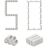 50 imanes de neodimio, 15 imanes de ladrillo Cuadrado, 30 x 10 x 3 mm y 35 imanes Miniatura de neodimio / 10 x 3 mm…