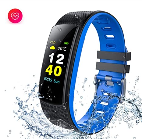 LJXAN Fitness Actividad Tracker Color Pantalla Smart Pulsera Ritmo ...
