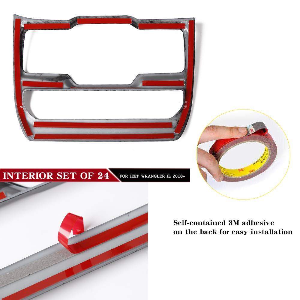 RT-TCZ Carbon Fiber Interior Decoration Trim Kit,Trim for 2018 Jeep Wrangler JL Unlimited (24PCS) by RT-TCZ (Image #5)