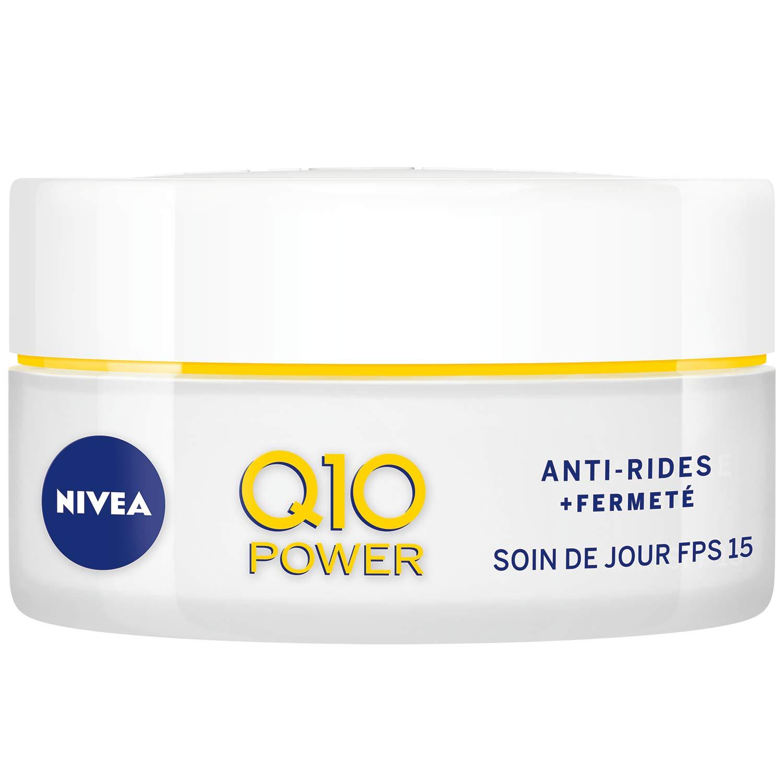 NIVEA Q10 Power Soin de Jour Anti-Rides +Fermeté FPS15 (1x50ml), crème anti-âge enrichie en Q10 & avec 10X plus de créatine, crème hydratante, soin visage femme product image