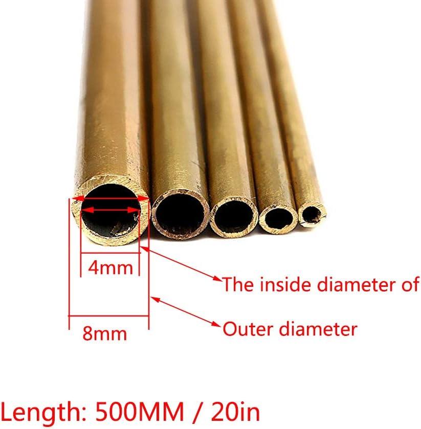 SZQL Tube en Laiton Ronde Tube de cuivre Creux Fabrication mod/èle Facile /à souder,Outer:8mmxInside:4mm