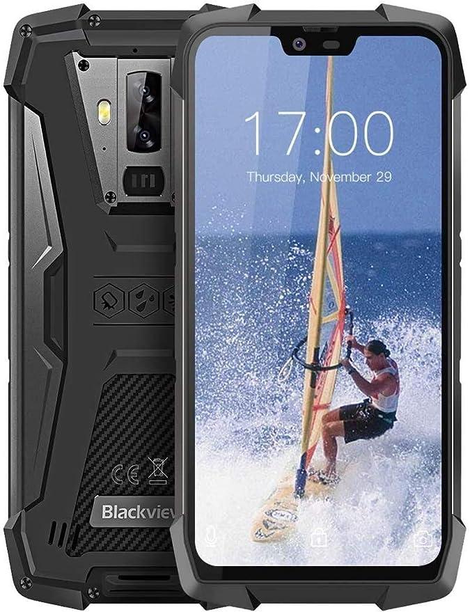 "Blackview BV9700 Pro Moviles Libre Resistentes, 6GB+128GB, 5.84"" FHD, Android 9.0, Teléfonos Impermeable IP68, IP69K, NFC, Calidad del Aire+Monitor de ..."