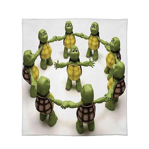 C COABALLA Manta de Franela, Reptil, para Sala de Estar ...