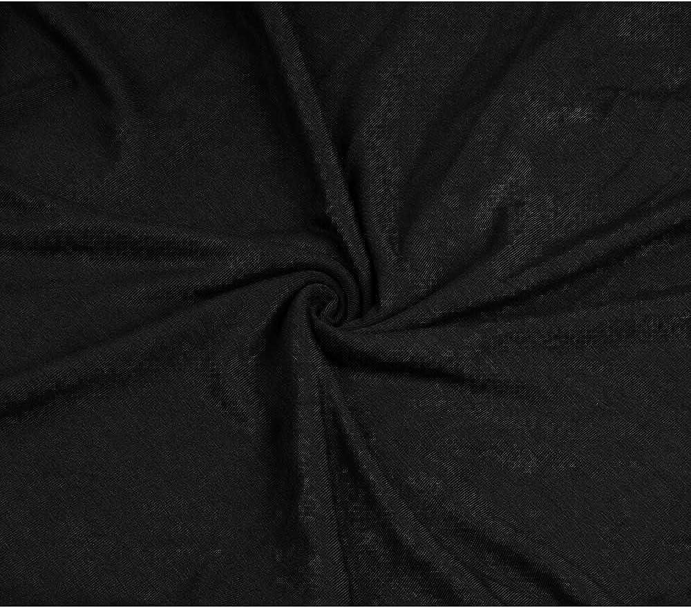 Segone Womens Casual Long Sleeve Tie Dye//Black T-Shirt Dress V Neck Twist Knot Tunic Dresses Tops