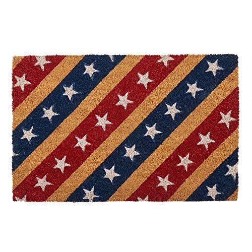 Tip2Top Slanted Stars and Stripes Coir Door Mat