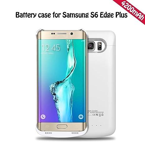 YFisk Externos 4200mah batería Funda Cargador Para Samsung Galaxy S6 Edge Plus-Blanco
