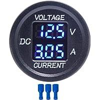 FangWWW Universal DC 9 V a 48 V 10 A voltímetro digital amperímetro voltaje corriente medidor de medición LED…