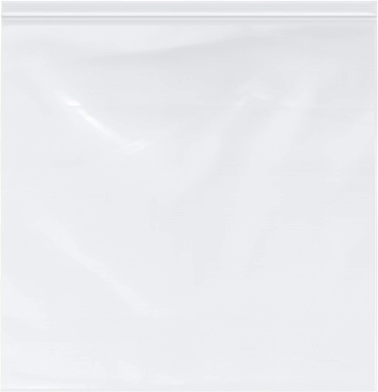 Plymor Zipper Reclosable Plastic Bags, 2 Mil, 20
