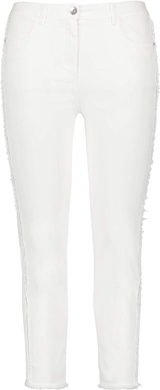 Samoon Hose Jeans 9/10 Cremeweiss