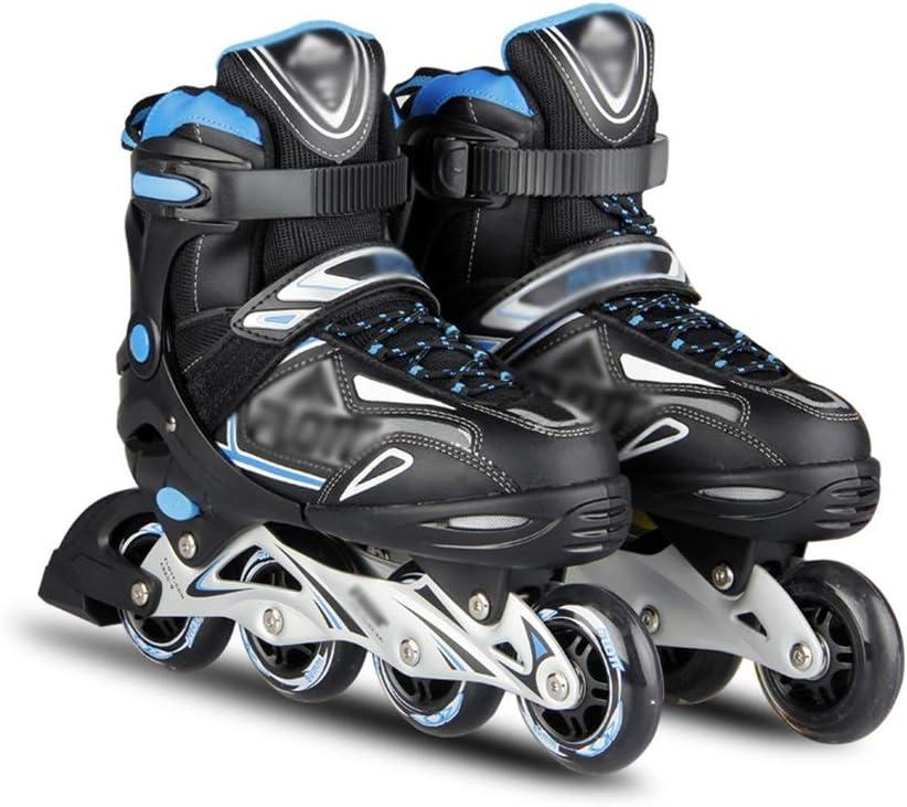 大人 フィットネスタイプ 用ポータブル インラインスケート,サイズ調整可能 初心者 屋内 用ポータブル 向け Inline Skate , 男性女の子 贈り物 ローラースケート用 ジュニア (Color : A, Size : M-EU(35-38)) A M-EU(35-38)