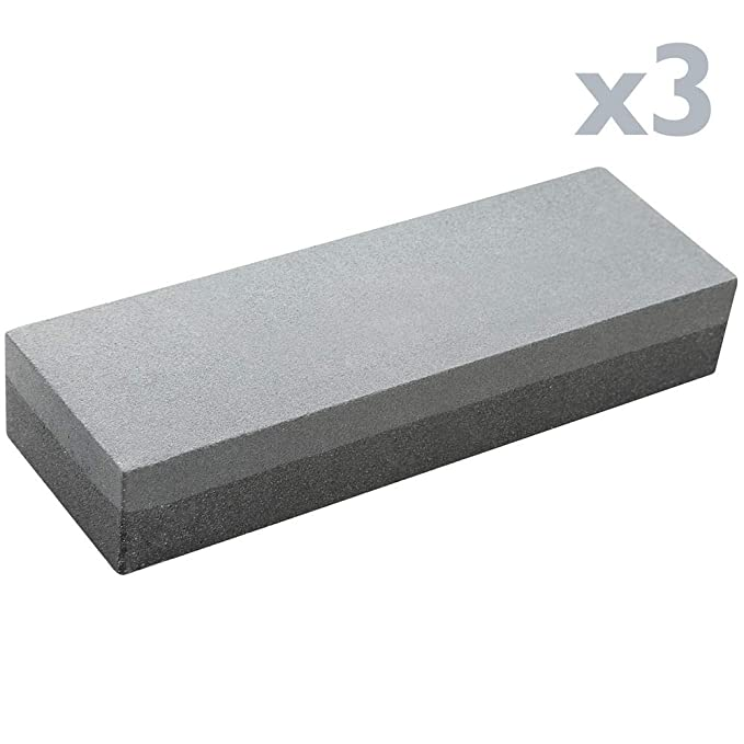 Tolsen - Piedra afiladora de doble cara gruesa y fina para afilar cuchillos tijeras navajas 3-pack