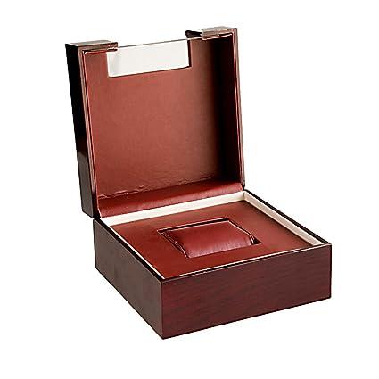 5c7683554 AMCER Single Slot Watch Box for Men - Luxury Wooden roof window Display Case