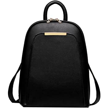 49a8c8f11310 Image Unavailable. Image not available for. Colour  Coofit Women s Leather  Backpack Handbags Ladies Daypacks Girls Vintage School Travel ...