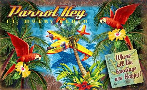 Northwest Art Mall JM-6729 HPY Parrot Key Fort Myers Beach Florida Where All Landings are Happy 11