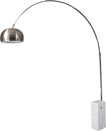 LeisureMod Modern Arco Stainless Steel Floor Lamp