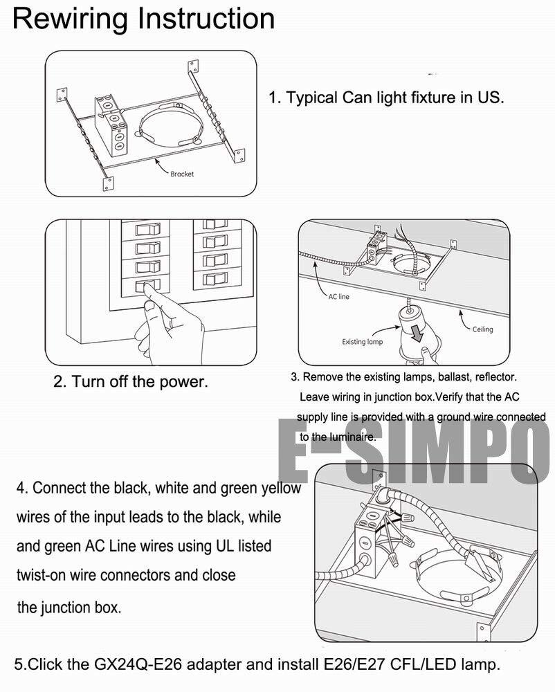 Halica 15pcs 2Pin CFL G24 to E27 Lamp base adapter G24d to E26 adaptor 2P 21.8mm G24 to E26/E27 Lamp Base Converter CE,Rohs,