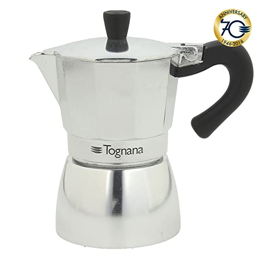 Tognana Cafetera - 6 taza Mirror - Aluminio: Amazon.es: Hogar