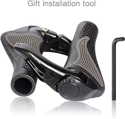 Bike Bicycle Rubber Hand Grips /& Aluminum Barend Handlebar Ergonomic Push On