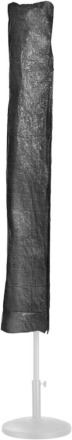 Nera, polietilene Uniprodo Copri ombrellone Copertura per ombrellone Custodia Uni/_UCOVER/_01