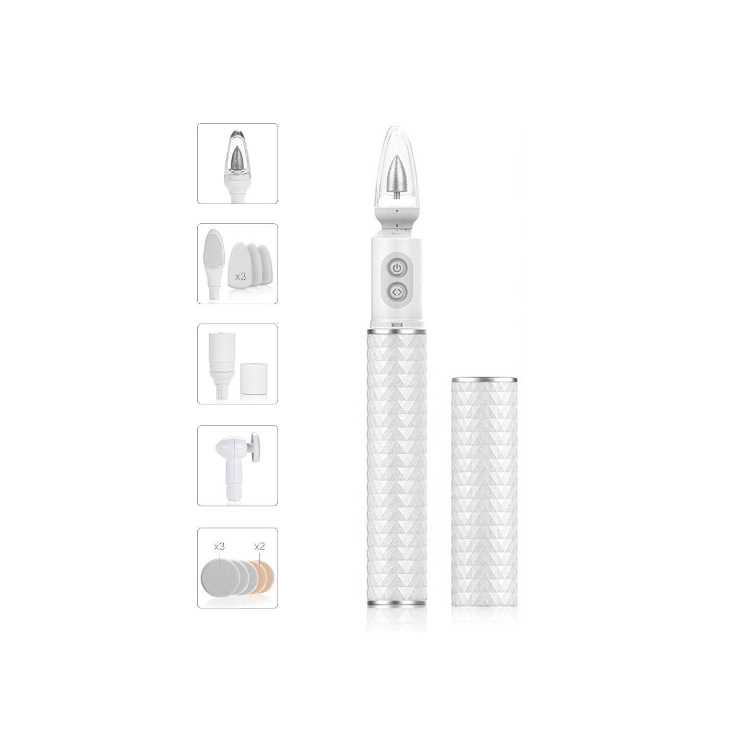 Baby Nail File, PEIPAI Electric Nail Trimmer Manicure & Pedicure Set, Toes Fingernails Care Trim Polish for Baby 7 in 1 LED Nail File Tool UKBT-011