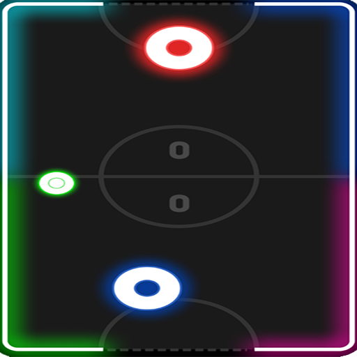 Online Board Games - Glow Hockey