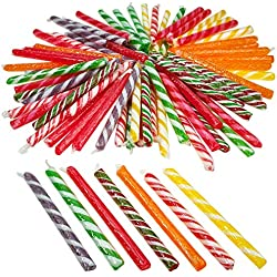 "Kicko 4.75"" Old Fashioned Candy Stick - 72 Piece of Fruit-Flavored Suckers for Party Favors, Cake Decorations, Novelty Supplies or Treats for Halloween, Christmas, Baby Showers, Weddings"