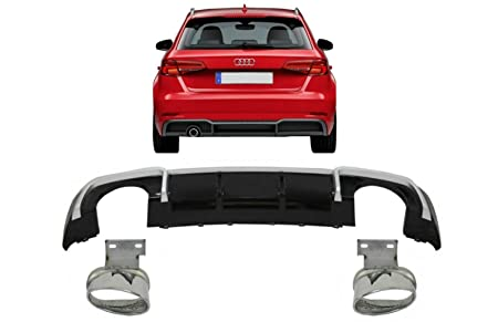 Rear Bumper Valance Diffuser For Audi A1 Exhaust on LEFT