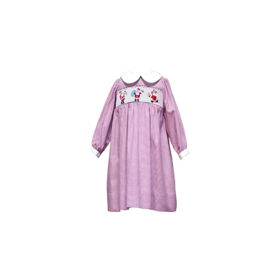 Rare Editions Baby Baby Girls Check Smocked Dress, Red/White, 24 Months