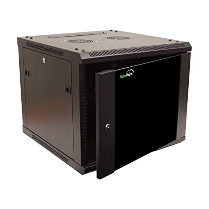 NavePoint 9U Wall Mount Network Server 19 Inch IT Cabinet Rack Enclosure on