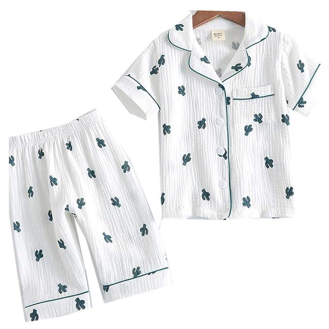 Amazon.com: YHXG pijama de algodón con botones para bebés ...