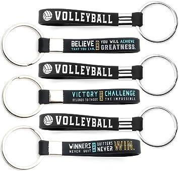 Pack de 12 llaveros de voleibol con citas motivadoras – Paquete al ...