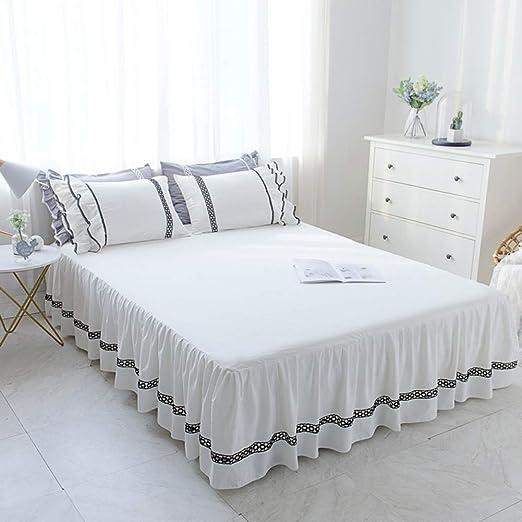 TENCMG Falda de Cama de algodón de Verano Falda para Cama con ...