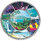 Hawaii Montage Metal Souvenir Plate with Stand