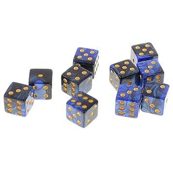 Set de 10 Piezas Seis Caras D6 Dados Juegos de Mesa Mazmorras y ...