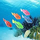 Tipmant Electric Fish Animal Pets Goldfish Swim in Water Tank, Bathtub, Swimming Pool Baby Bathtub Toys Kids Gift - 5 Pcs/Pack