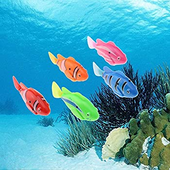 Amazon.com: Tipmant Electric Fish Animal Pets Goldfish Swim in Water ...