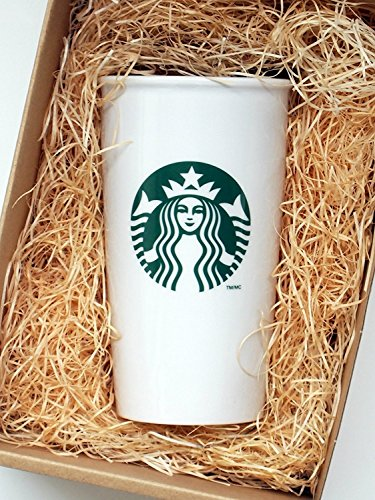 Starbucks Coffee Double Wall Ceramic Travel Mug Cup, 12 oz