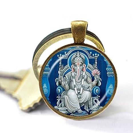 Llavero de elefante hindú Ganesh Ganesha con meditación de ...